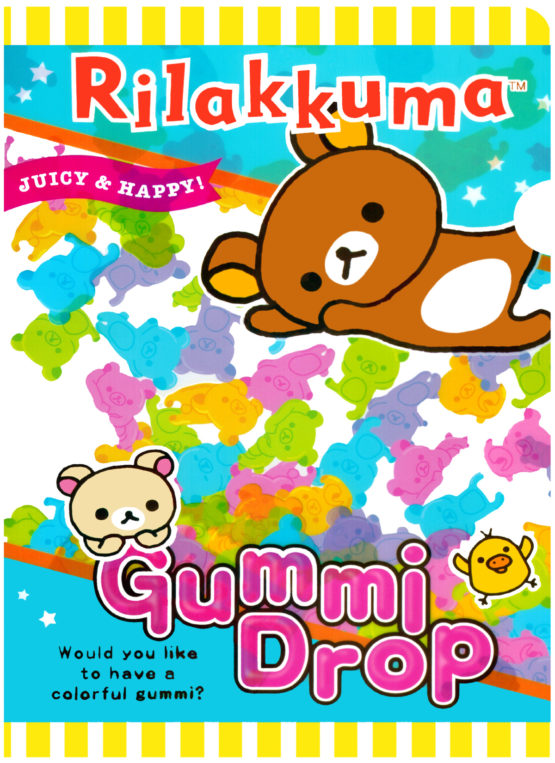San-x Rilakkuma Gummy Drop Plastic File Folder