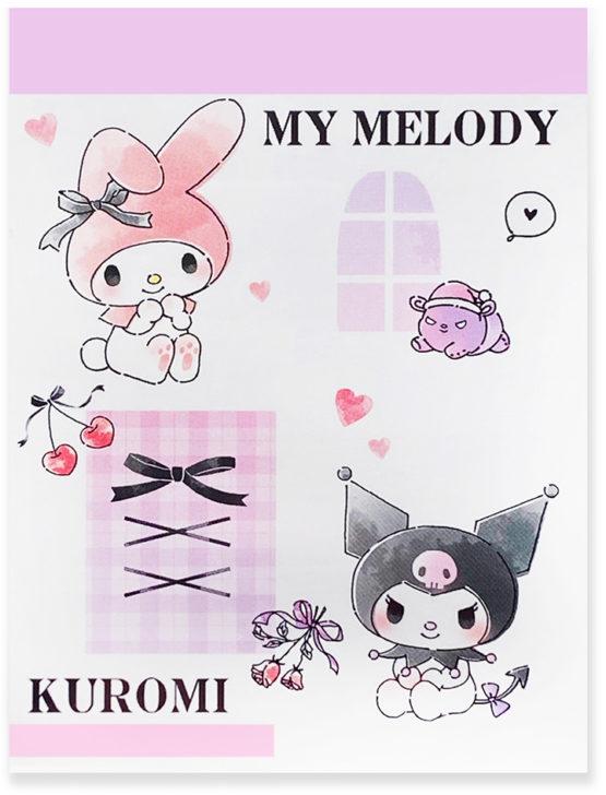 Sanrio My Melody Kuromi Love Big Mini Memo Pad